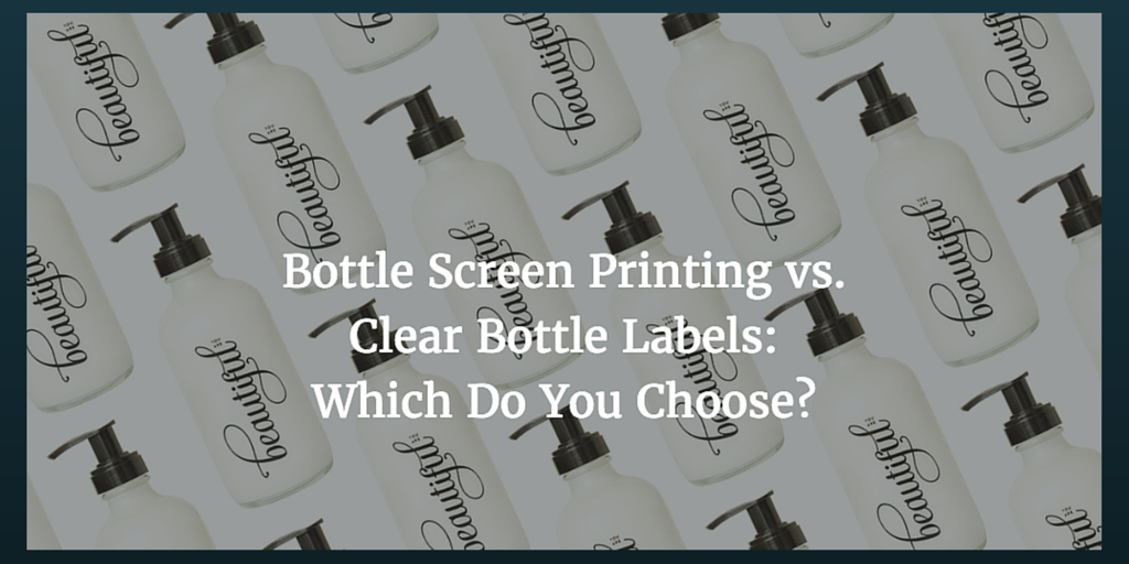 photograph regarding Clear Printable Labels for Glass referred to as Bottle Show Printing vs. Apparent Bottle Labels